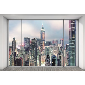 Suite City Skyline Photo Wall Mural, 368x248 cm
