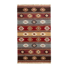 Red Tribal Wool Kilim Rug, Small