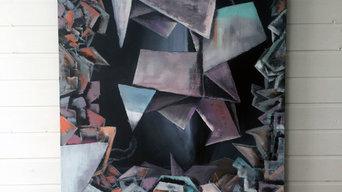 """Абстрактная картина для интерьера """"Birth of crystal"""""""