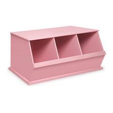 3-Bin Storage Cubby, Pink