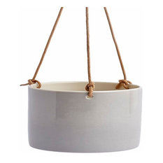 Anne Black Hanging Flowerpot, Concrete, Small