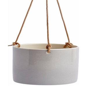 Anne Black Hanging Flowerpot, Concrete, Small