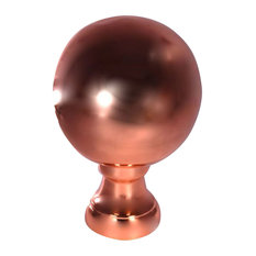 10 W x 10 D x 14 1 2 H Large Londoner Finial, Copper Polished