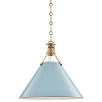 """Hudson Valley Lighting MDS352-BB Painted No.2 1 Light 16""""W - Aged Brass"""