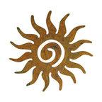 Sun Swirl Garden Art, Rust, Wall Hanging