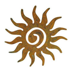 Sun Swirl Garden Art, Rust, Wall Hanging