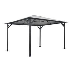13'x10' Aluminum Hardtop Gazebo With Polycarbonate Roof Panels