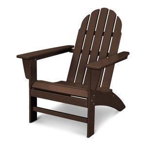 Eucalyptus Adirondack Chair With Built In Ottoman