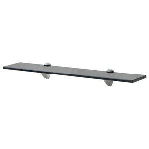 VidaXL Floating Shelf, 8 mm, Black, 60x20 cm