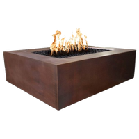"""Quad 36"""" Electronic Ignition Fire Pit in Copper, Natural Gas"""