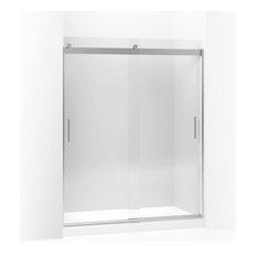 """Kohler - Kohler Levity Sliding Shower Door, 74""""x56.63""""-59.63"""", Bright Silver - Shower Doors"""