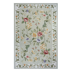 Spencer Hand-Knotted Rug, Sage, 5'x8'