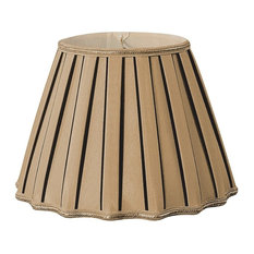 50 most popular gold silk lamp shade for 2018 houzz royal designs inc staggered pleat designer lampshade antique gold lamp shades aloadofball Image collections