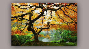 Maple Tree - Glow in the Dark Canvas Print