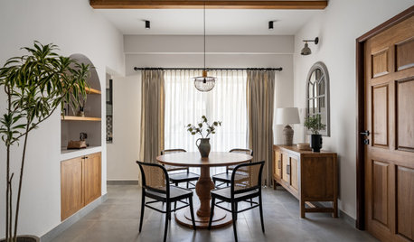 Houzz Tour: Warm Wood and Rattan in a Calm, Pared-down Home