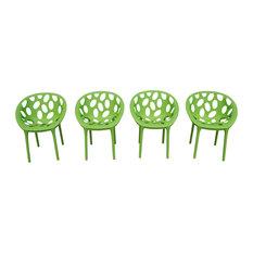 Nido Outdoor All Season Resin Chairs, Green