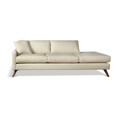 Dane One Arm Sofa With Chaise Calvin Ivory