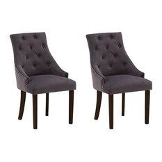 Hobbs Misty Velvet Dining Chairs, Set of 2, Dark