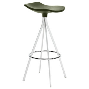 Gimlet Contemporary Bar Stool, Olive Green, Large