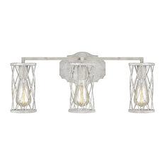 Feiss Cosette 3-Light Vanity VS2483FWO/DWW, French Washed Oak/White