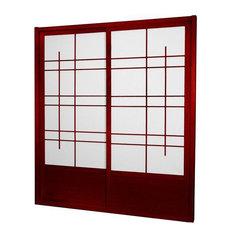 Oriental Furniture   7u0027 Tall Eudes Shoji Sliding Door Kit (Double, Sided)