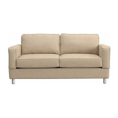 Raleigh Quick Assembly Two Seat Bonner Leg Sofa, Buff