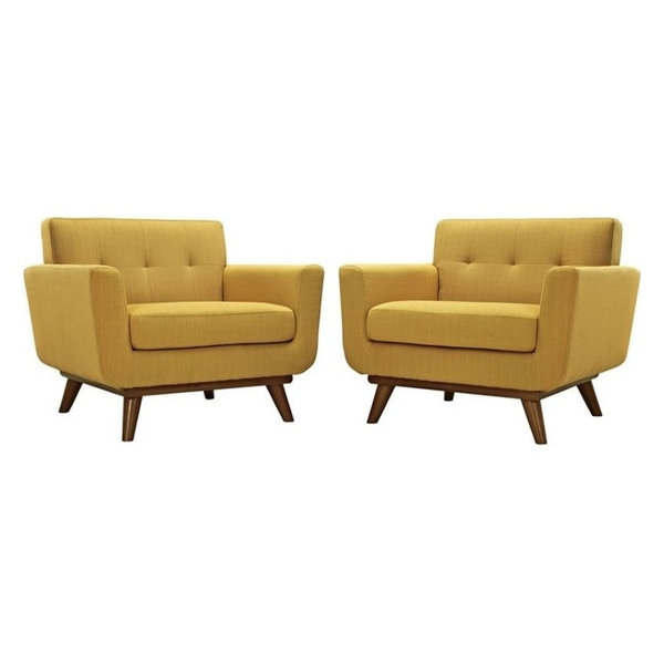 Modway Engage Accent Chairs, Citrus, Set of 2