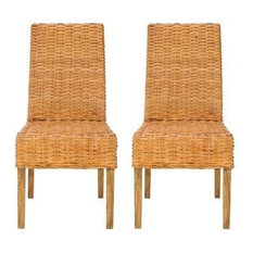 Wicker Rattan Dining Room Chairs Houzz