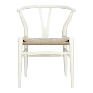 Amish Dining Wood Armchair, White