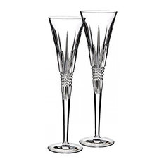 Waterford - Lismore Diamond Toasting Flute Glass (Set of 2) - Wine Glasses