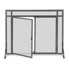 Pilgrim 18435 Pilgrim Single Panel Forged Iron Fireplace Screen With Doors