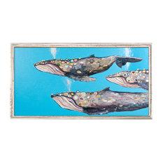 """Humpback Whale Pod"" Mini Framed Canvas by Eli Halpin"
