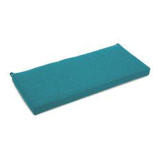 "40""x19"" Outdoor Loveseat Cushion, Aqua Blue"