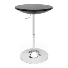 Set Of 2 Alpha Contemporary Adjustable Bar Table - Black Licorice