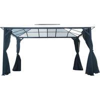 13'x10' Aluminum Hardtop Gazebo, Roof Panels, Sunshade, Mosquito Netting