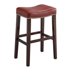 Residence Skye Stools Set Of 2 Red Counter Height Bar