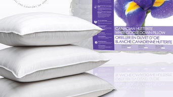 Canadian Hutterite White Goose Down Pillows