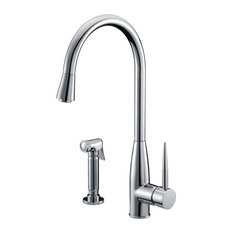 Dawn Single-Lever Kitchen Faucet With Side-Spray, Chrome