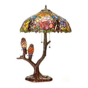 Warehouse of Tiffany Sarah Camille Tiffany Style Table Lamp