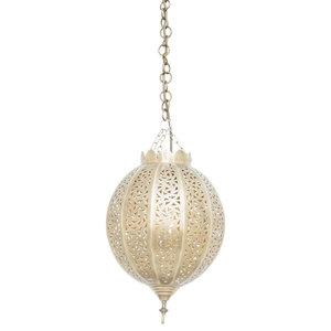 Brass Citron Pendant, 24 x 24 x 43cm