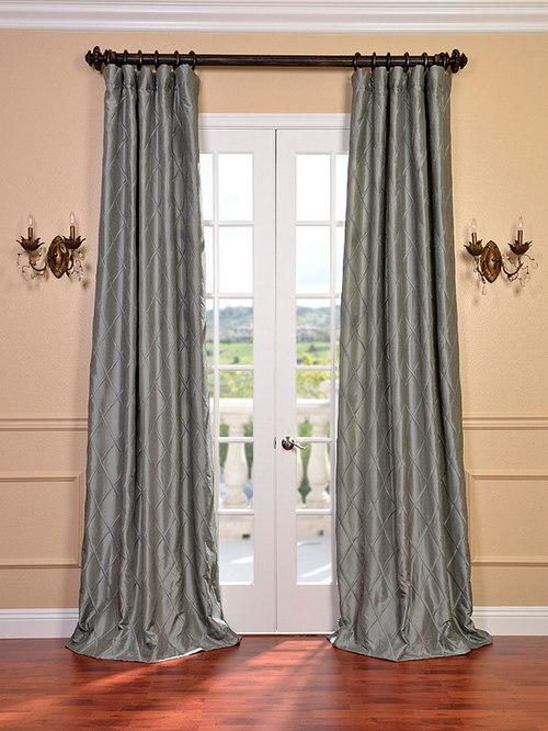 alexandria platinum embroidered faux silk curtain curtains