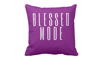 """Blessed Mode Throw Pillow, Purple, 18""""x18"""""""