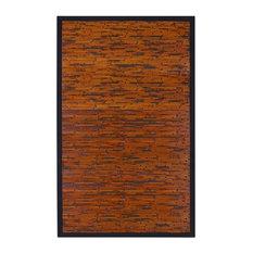 Anji Mountain 7'x10' Cobblestone Mahogany Bamboo Rectangular Rug