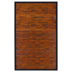 Anji Mountain - Cobblestone Bamboo Area Rug, 7'x10' - Add artful, rich texture to your entryways, kitchens or bathrooms with the Cobblestone Bamboo Area Rug. This highly durable piece offers protection for your floors, including heavily trafficked areas. A black cotton mitered edge and nonskid backing keep your bamboo mat flat and firmly in place to prevent slips or trips. Made with naturally water-resistant moso bamboo, this artisanal piece dries easily and resists mildew so you don't have to be dainty about entering your home or working at the kitchen sink.