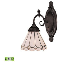 Mix-N-Match 1-Light Sconce, Tiffany Bronze, LED Offering Up To 800 Lumens