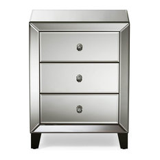 mirrored home goods nightstands and bedside tables | houzz Matching Black Nightstands