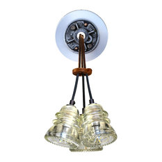 Insulator Light LED Sconce Cluster 3, Clear Insulator