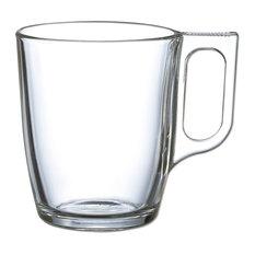 Alinéa - Nuevo Morning Lot de 6 mugs en verre transparent 25cl - Tasse à Thé