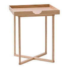 Wireworks   Damien Square Natural Oak Side Table   Side Tables And End  Tables