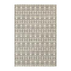 "Oriental Weavers Sphinx Hampton 194E5 Rug, Grey/Ivory, 6'7"" x 9'6"""